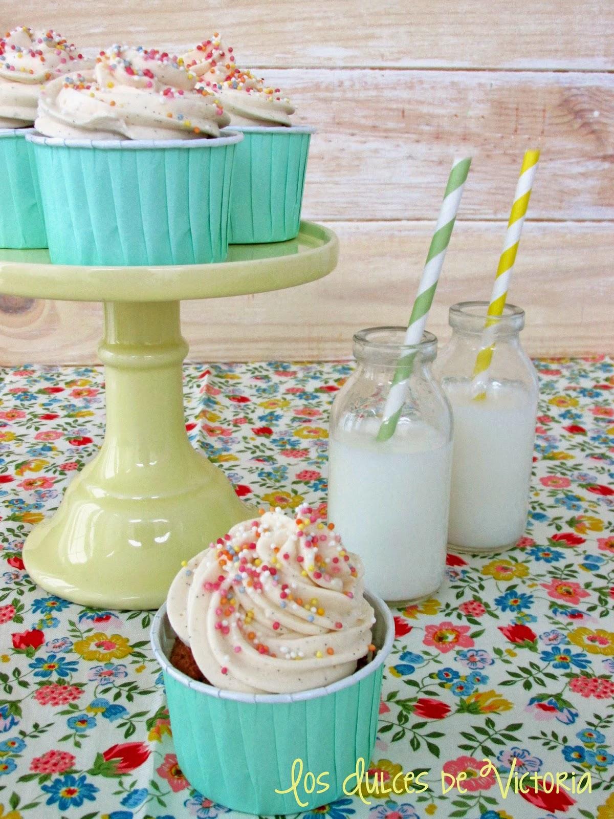 Cupcakes de Arándanos & Buttercream de Mascarpone