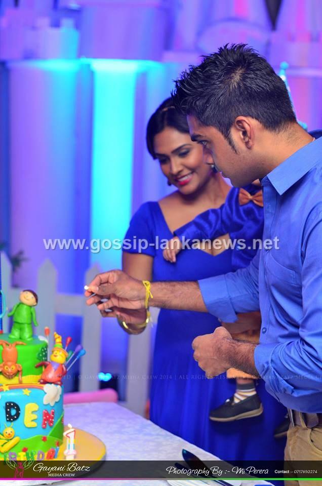 udari perera s son birthday celebration photos gossip