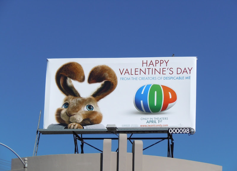Valentine's Day Hop movie billboard