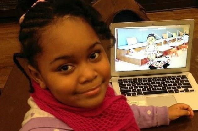 Zora Ball 7 anos criou seu proprio jogo