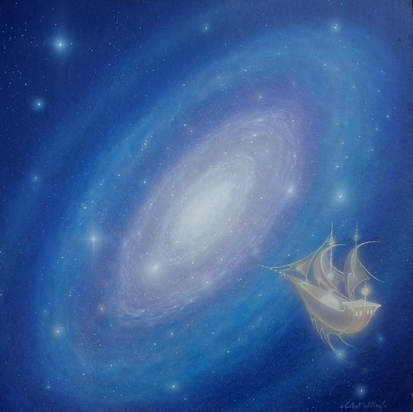 night with her train of stars  gilbert williams