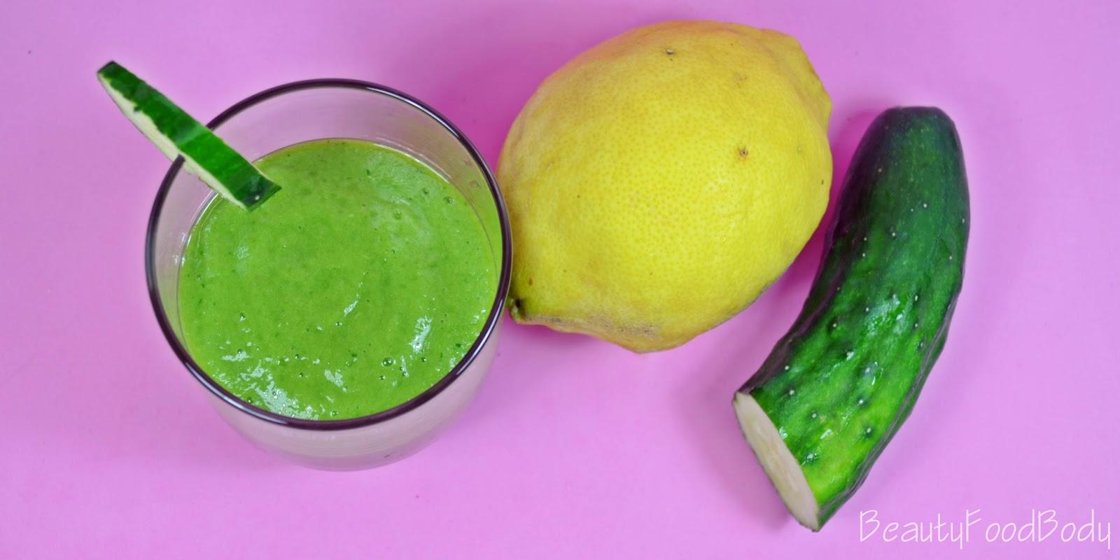 beautyfoodbody smoothie verde pepino detox dieta