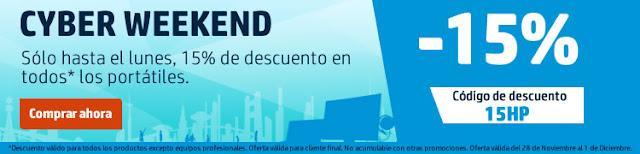 Mejores ofertas Cyber Weekend en la HP Store
