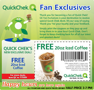 Free 20 oz Iced Coffee at Quick Chek