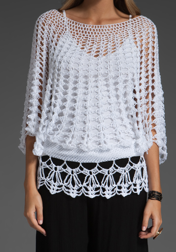 Crochet - Blusa Branca
