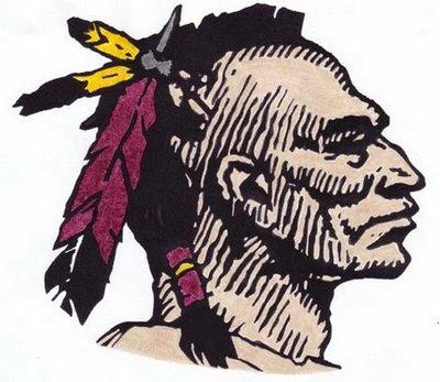 indian warrior head logo