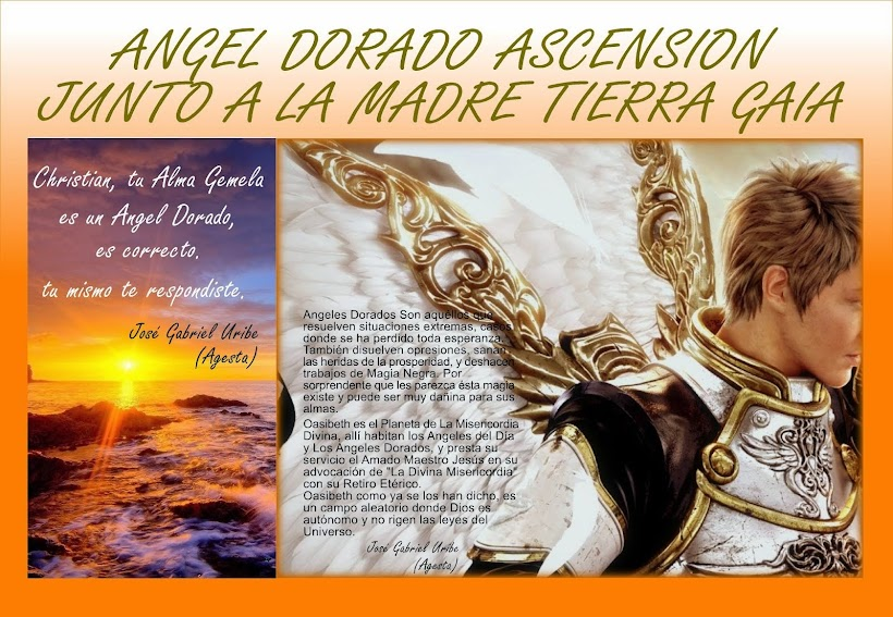 ANGEL DORADO ASCENSION JUNTOS A LA MADRE TIERRA GAIA