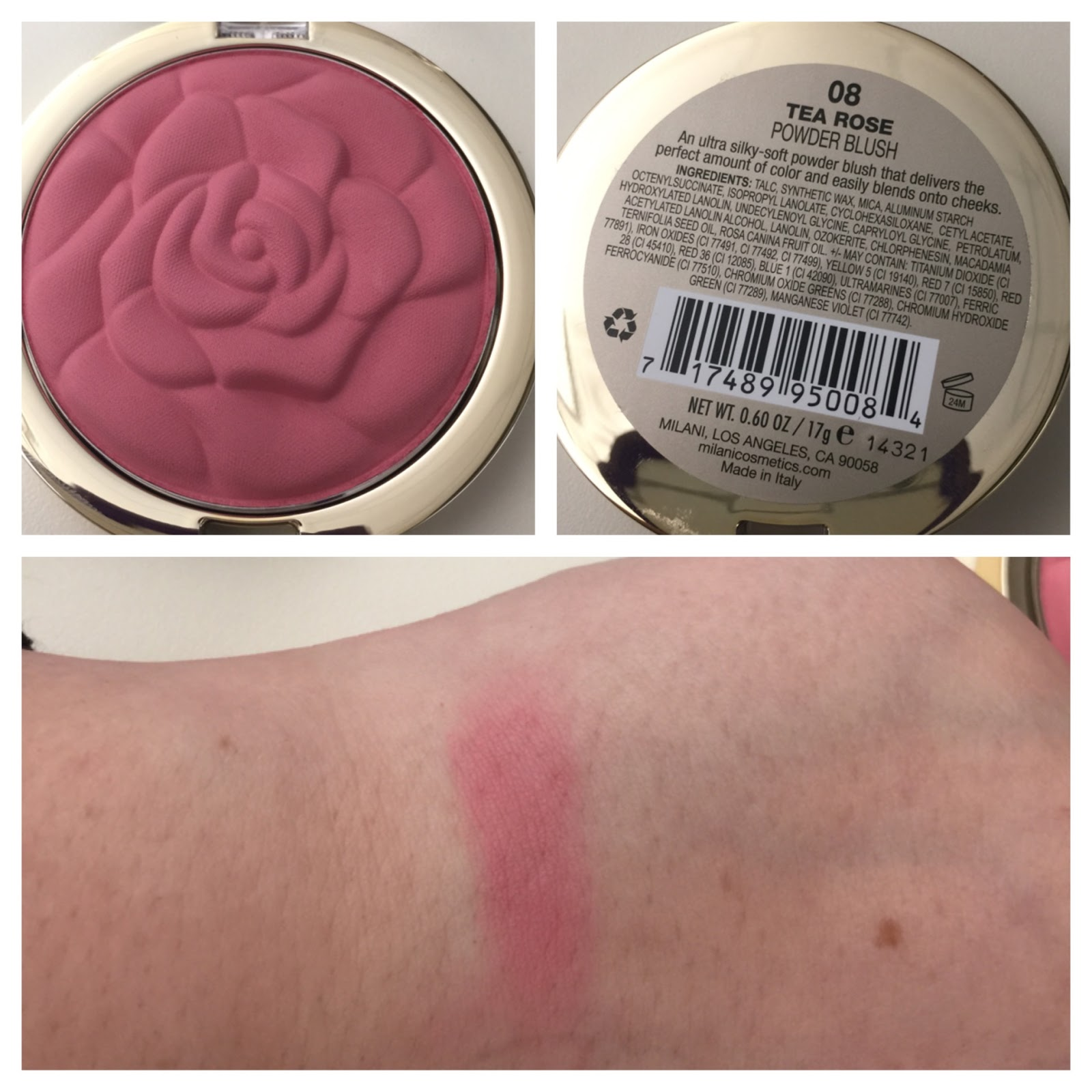 MIlani NEW! Rose Powder Blush