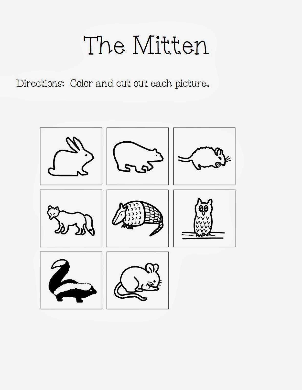 """The Mitten"""" By Jan Brett Activities! - The Autism Adventures of Room ..."""
