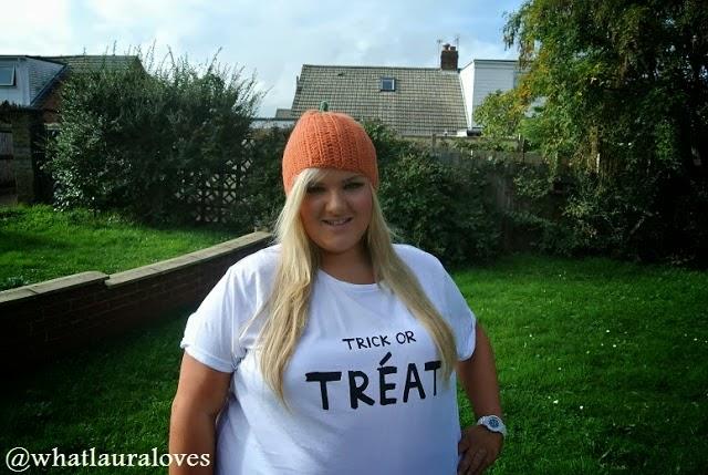 Halloween, Plus Size, Pumpkin, Trick or Treat, Hat, T Shirt