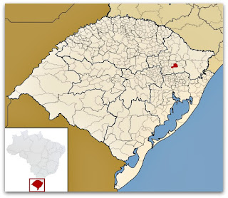 Cidade de Flores da Cunha, no mapa de Rio Grande do Sul