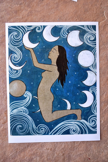 moon goddess painting