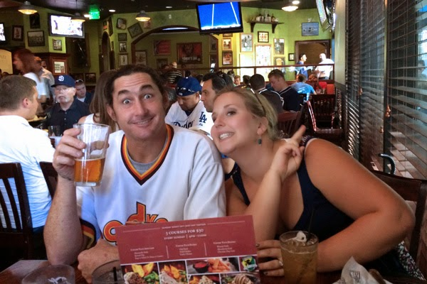 Dad and Mom enjoying the festive atmosphere of the Tilted Kilt.  - Oma Loves U!