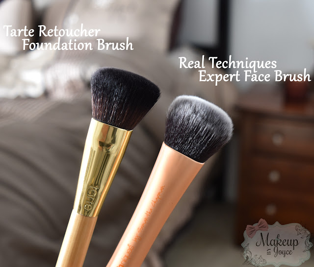 Real Techniques Expert Face Brush vs Tarte Retoucher Brush Review