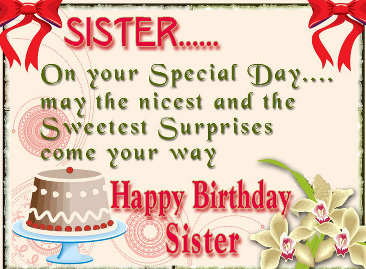 Surprise Birthday Card For Sister Send Everyday