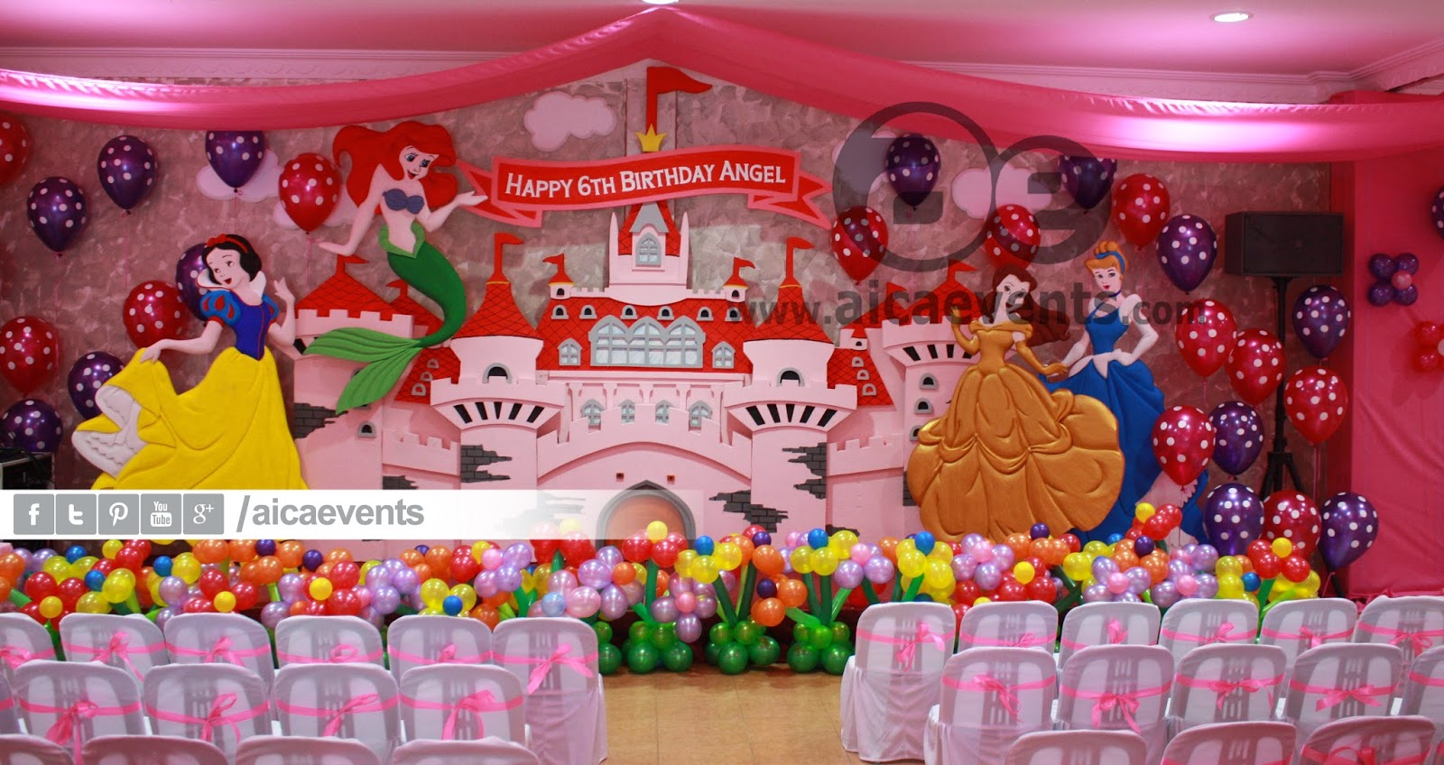 Princess Balloon Decoration Aicaevents Castle And Princess Theme Decorations