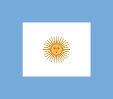 Bandera de proa de la Armada Argentina