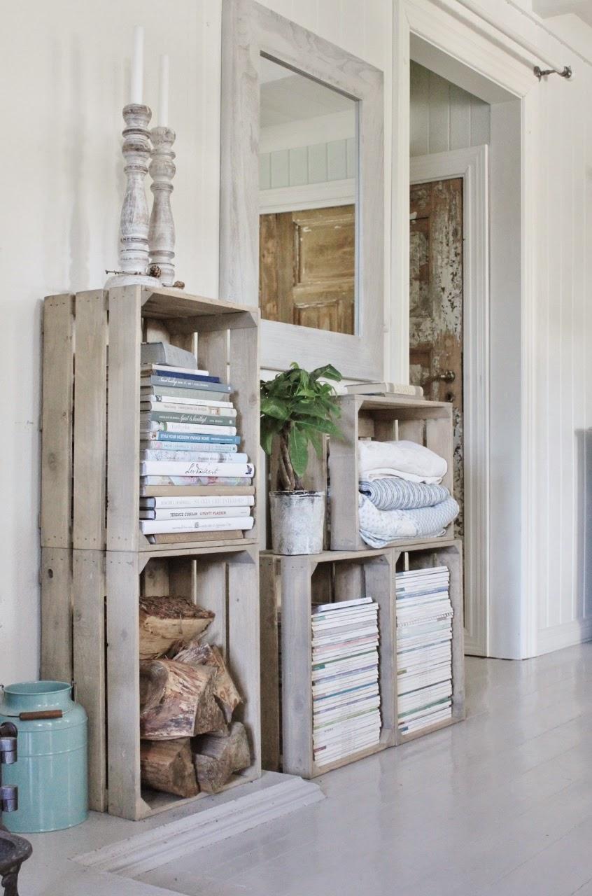 Las cajas de fruta de madera son ideales para ordenar y crear nuevas estanterías