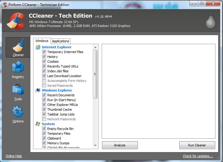 نسخة محمولة من برنامج سى كلينر الأول عالمياً لتنظيف وصيانة الويندوز CCleaner 4.18.4844 Tech Edition Portable للتحميل برابط مباشر