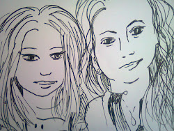 potrait of me and Faye by Marf