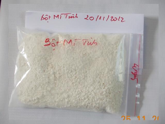 Mẫu sấy bột mì tinh