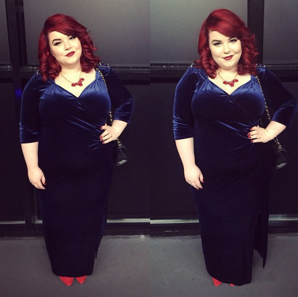 Scarlett & Jo Navy Embellished Velvet Dress, plus size blogger, scarlett and jo, georgina grogan