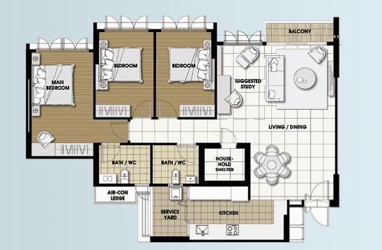Je t 39 aime new 5 room layout design Room layout