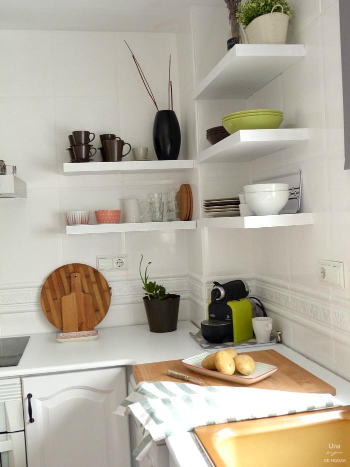 Una pizca de hogar reforma de mi cocina sin obras - Baldas para cocina ...