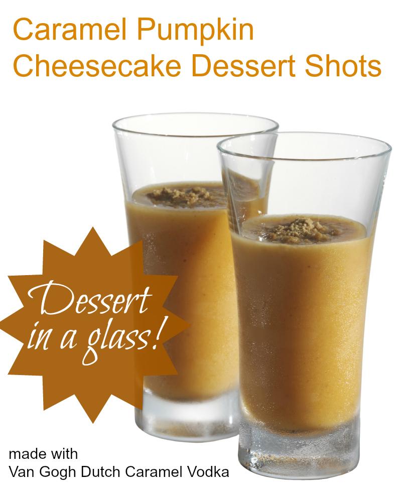 Caramel Pumpkin Cheesecake Dessert Shots! | PartyBluPrints.com