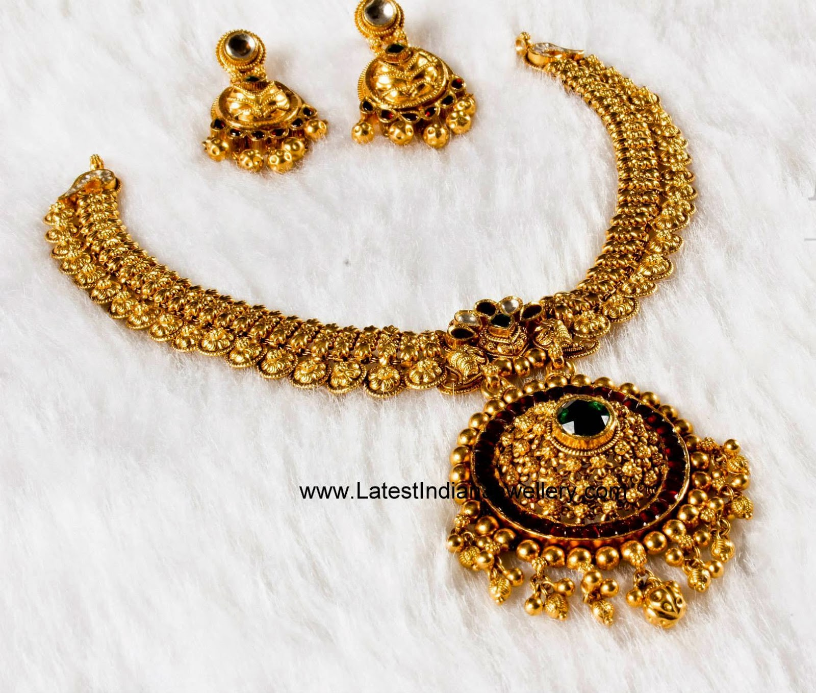 Antique Designer Necklace Earrings