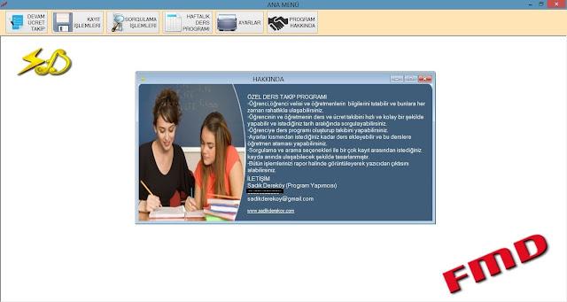 Özel Ders Ücret Takip Programı