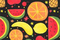 Fruity Fruit Pattern Pattern by Haidi Shabrina