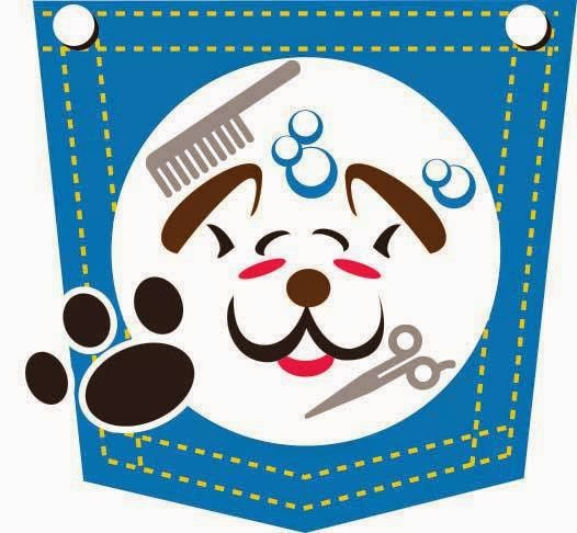 puppy in my pocket dog groomers logo