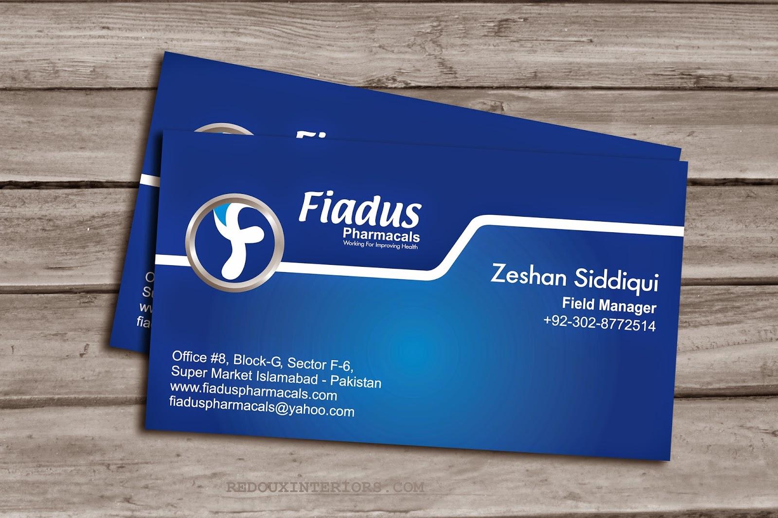 Irfan Haider (Personal Portfolio): Business Card Design