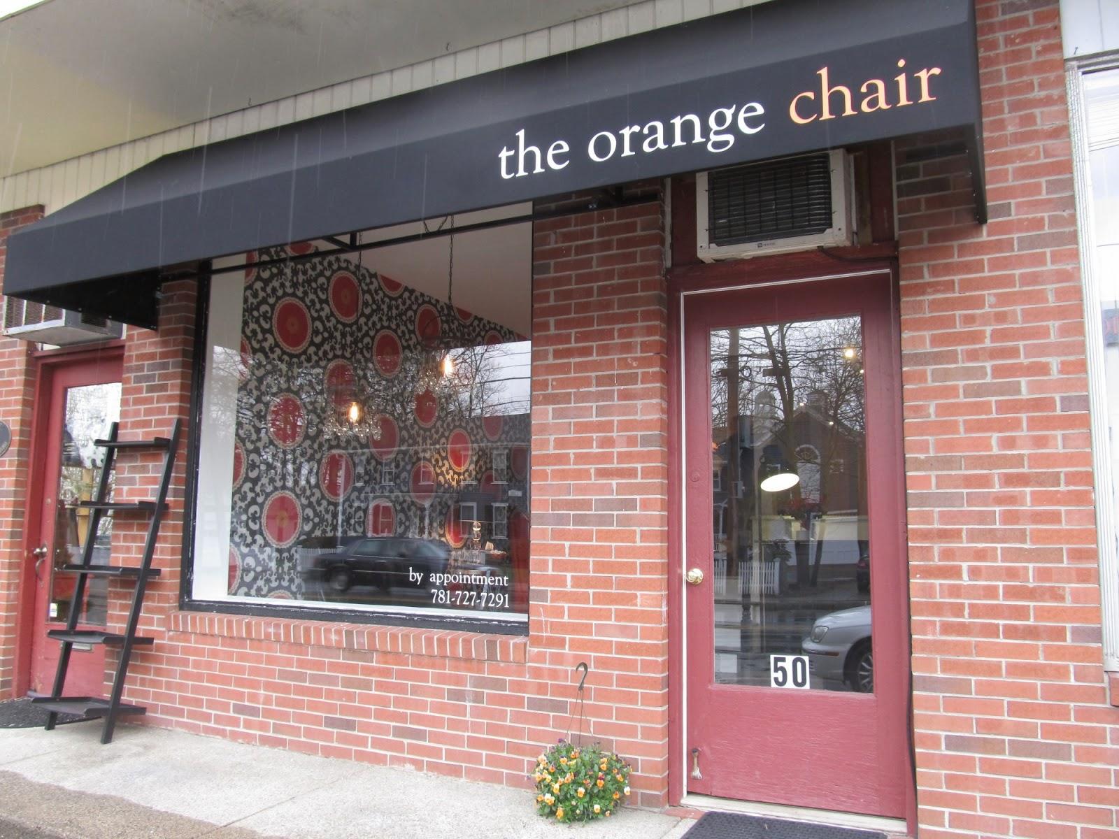 Bedford mass what 39 s new in retail orange chair salon for Salon orange