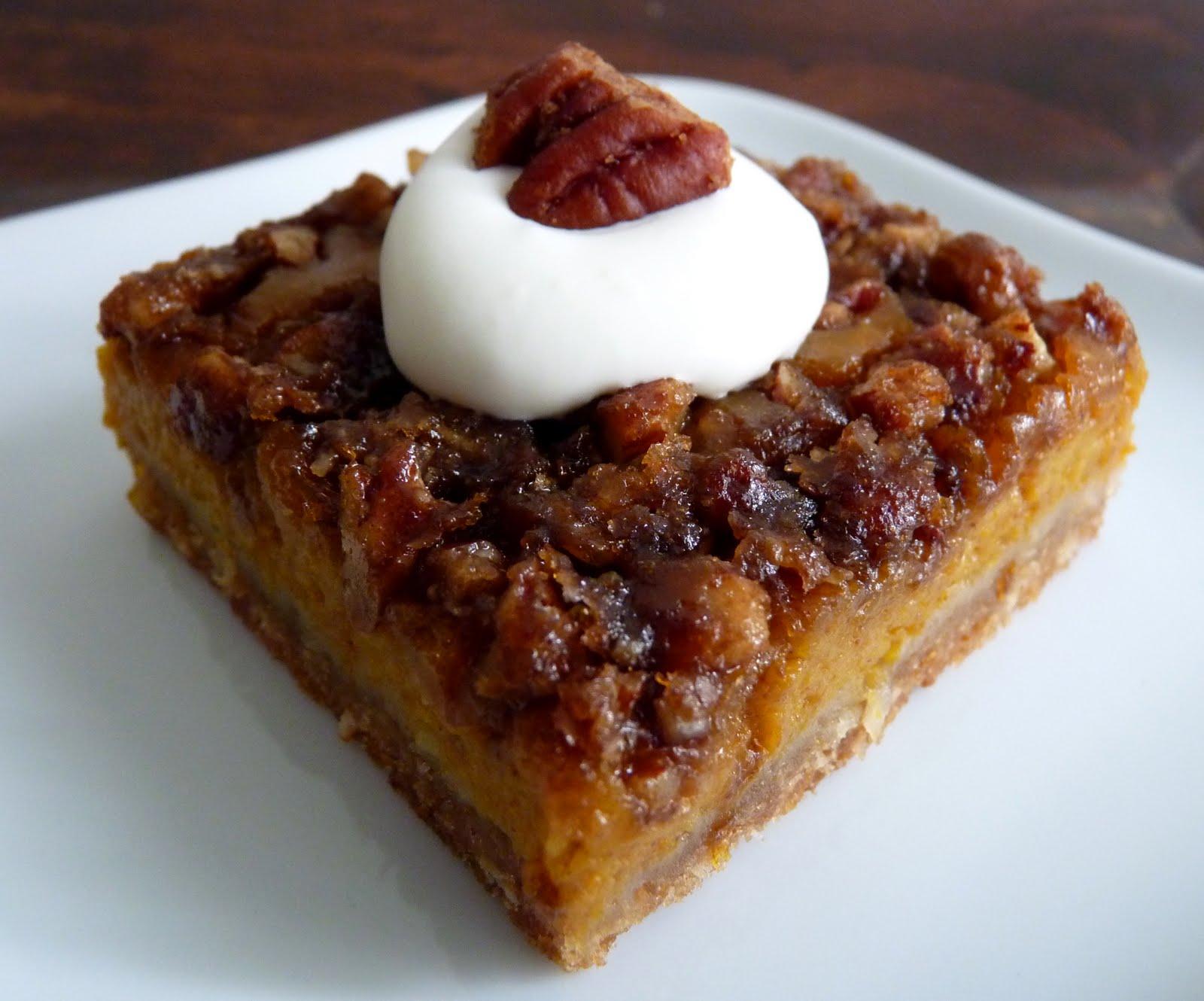 pastry studio: Pumpkin Pie Pecan Squares