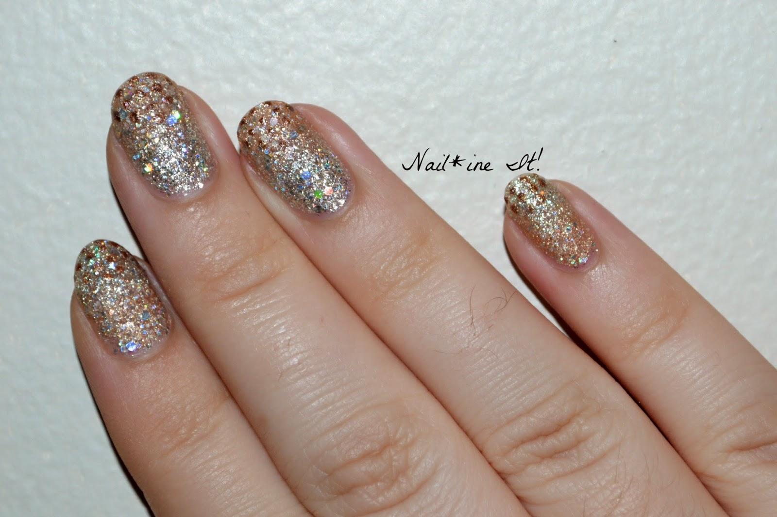 Nail*ine It!: French Dotticure over a Subtle Pixie Dust Gradient