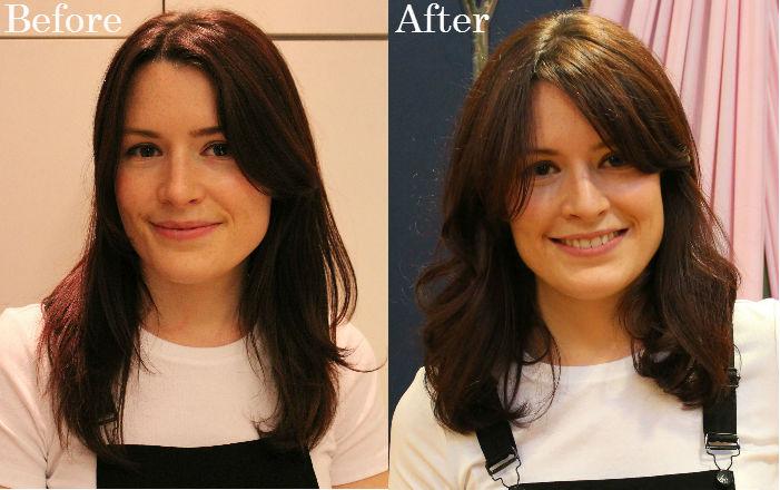 Alexa Chung hair style fringe