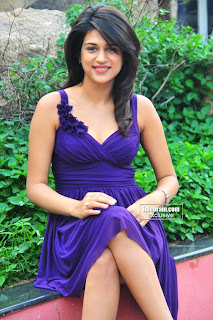 Shraddha Das Spicy Sleevelss Blue Gown Beauty Must See HQ Pics