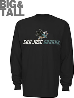 Big and Tall San Jose Sharks Long Sleeve Shirt