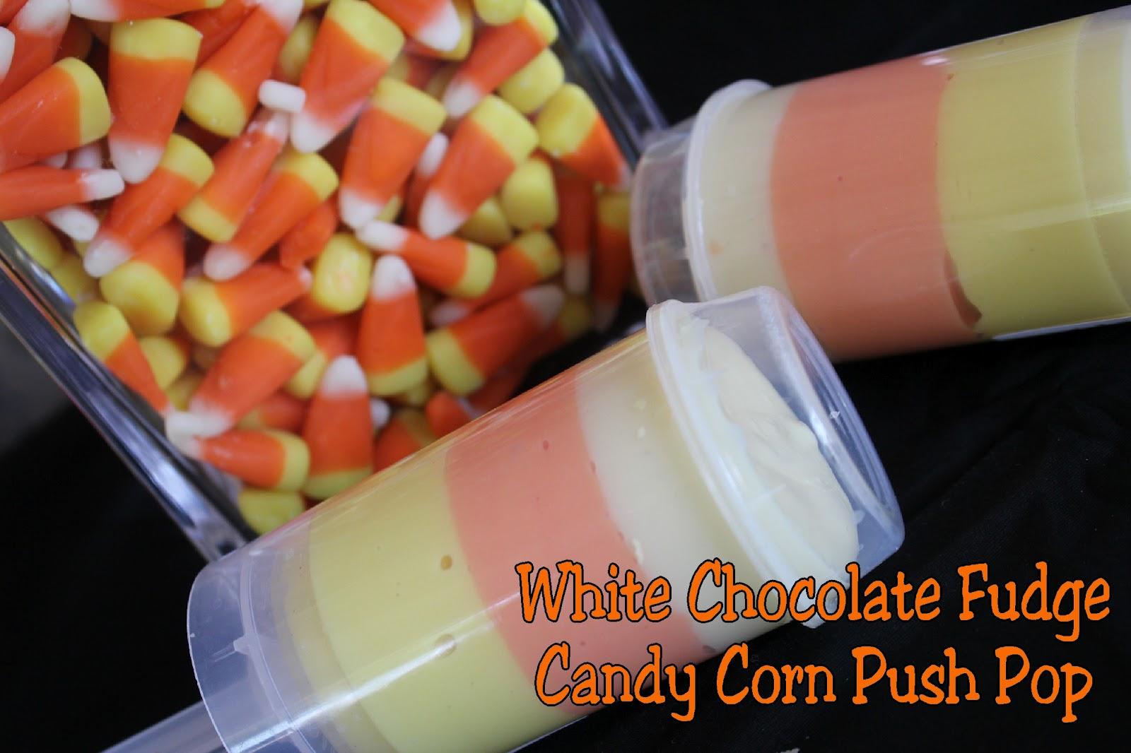 White Chocolate Fudge Candy Corn Push Pop | Kandy Kreations