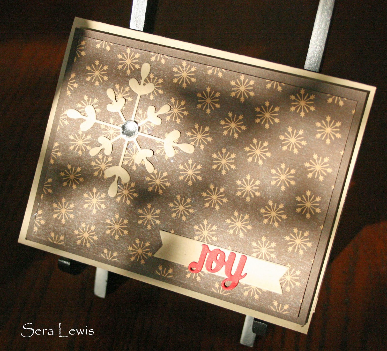 Stampin' Up! CAS card using Under the Tree DSP and the Snowflake Card thinlets