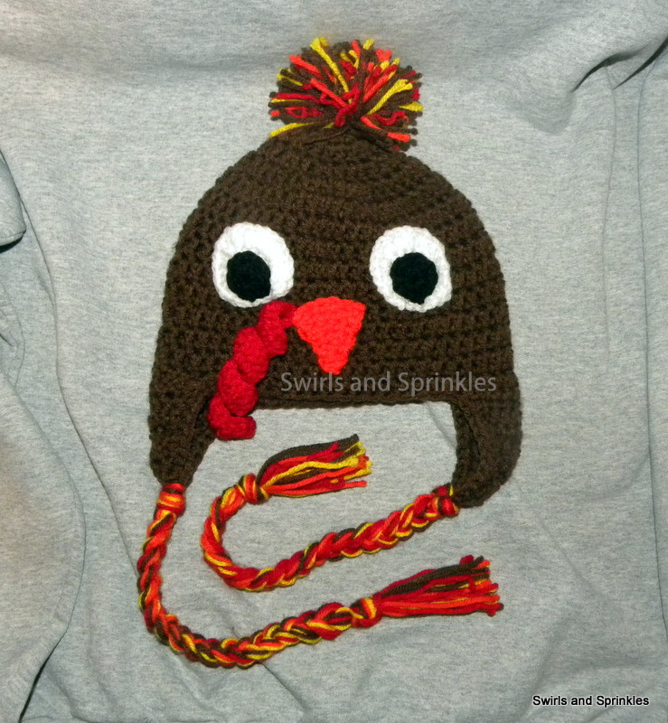 Crochet Turkey Cat Hat Pattern : Swirls and Sprinkles: Gobble Gobble!