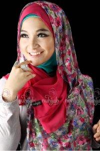 Nuhijab SSB Flower - Grey Pink (Toko Jilbab dan Busana Muslimah Terbaru)