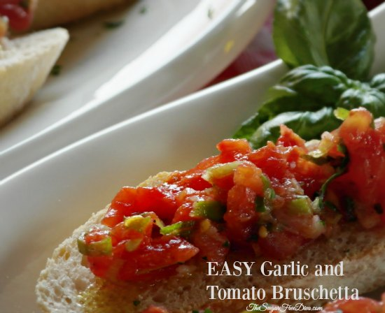 EASY Garlic and Tomato Bruschetta