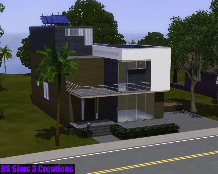 Casas modernas the sims mini casa moderna the sims for Casas pequenas modernas