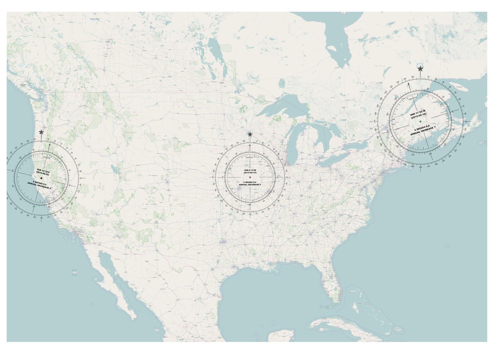Open Source GIS Blog QGIS Vs ArcGIS Adding Magnetic Declination - Us declination map