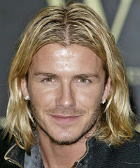 DAVID BECKHAM LONG HAIR