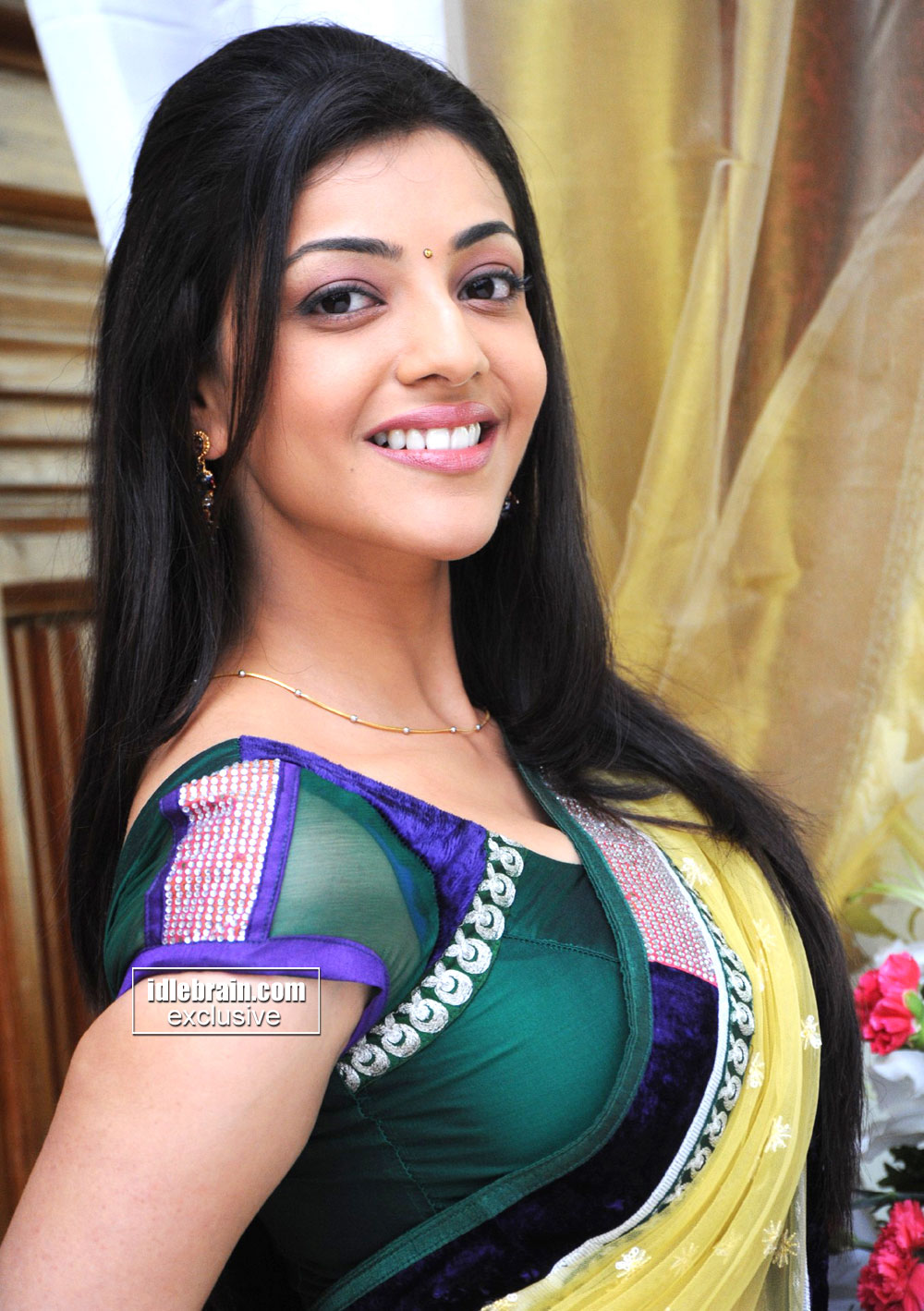 Kajal Agarwal Sexy South Indian Actress Hot Exposure In Saree Gorgeous Seducing Expressionssexy Photogallery Exclusive Latest