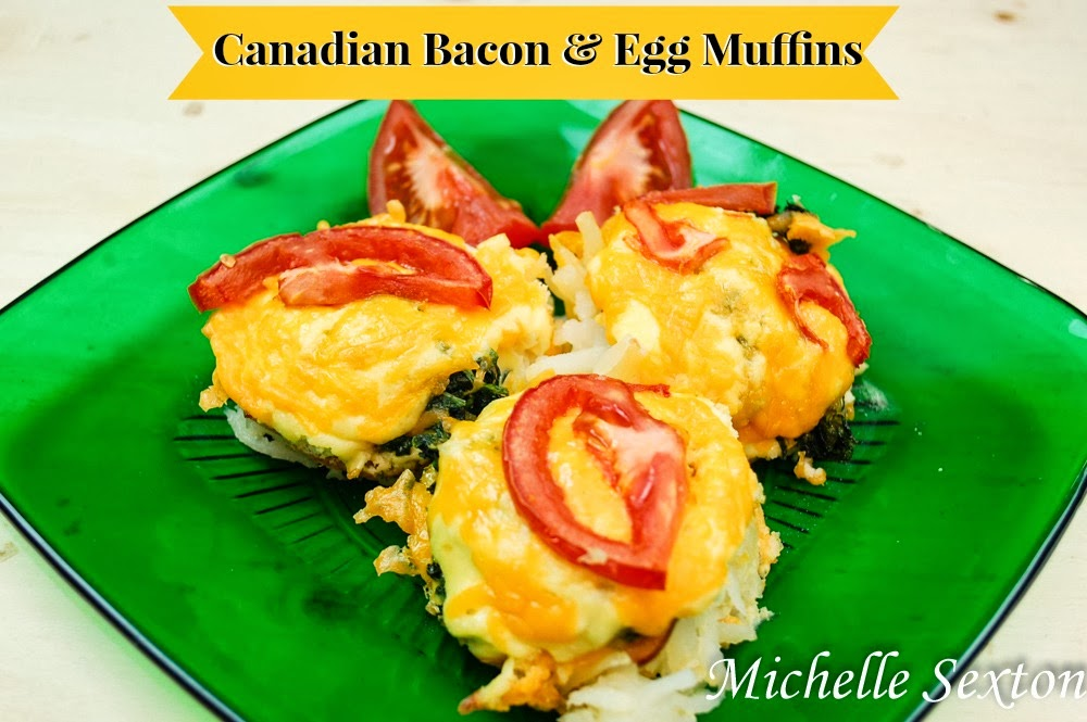 Canadian Bacon & Egg Muffins with Hash Browns Recipe - click through and get this recipe